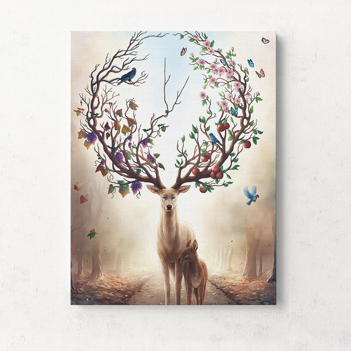 Unframed Canvas Print Deer Design Modern Home Decor Wall Art In Most Current Deer Canvas Wall Art (View 4 of 15)