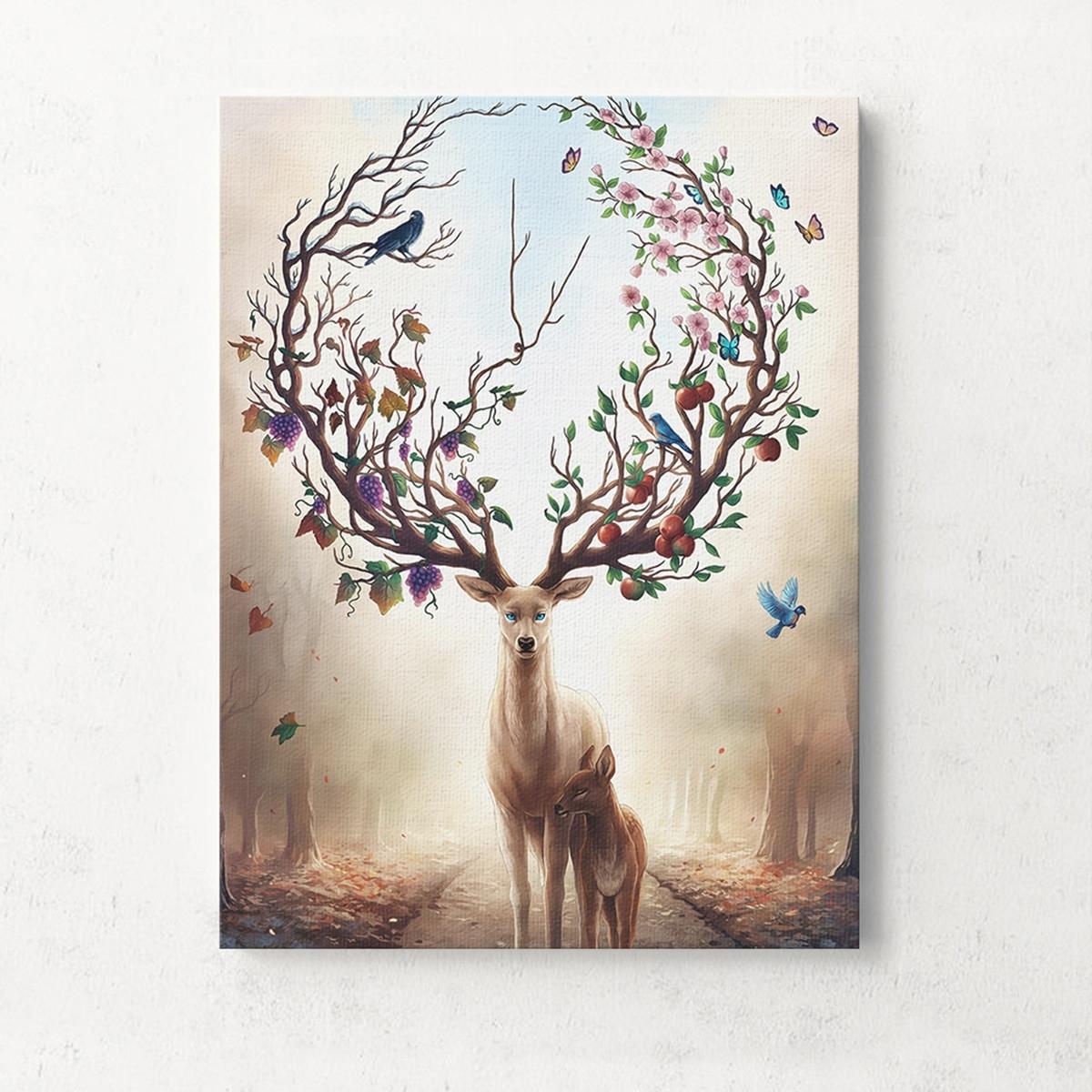 Unframed Canvas Print Deer Design Modern Home Decor Wall Art In Most Current Deer Canvas Wall Art (View 15 of 15)