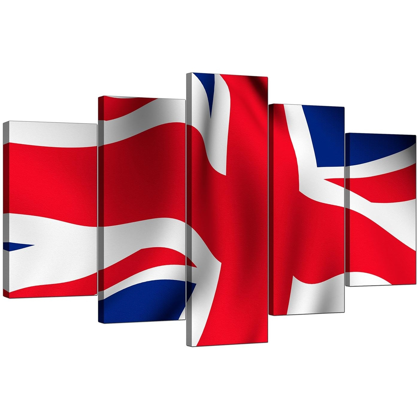 Union Jack Canvas Pictures For Your Living Room – 5 Panel Intended For Most Popular Union Jack Canvas Wall Art (Gallery 1 of 15)
