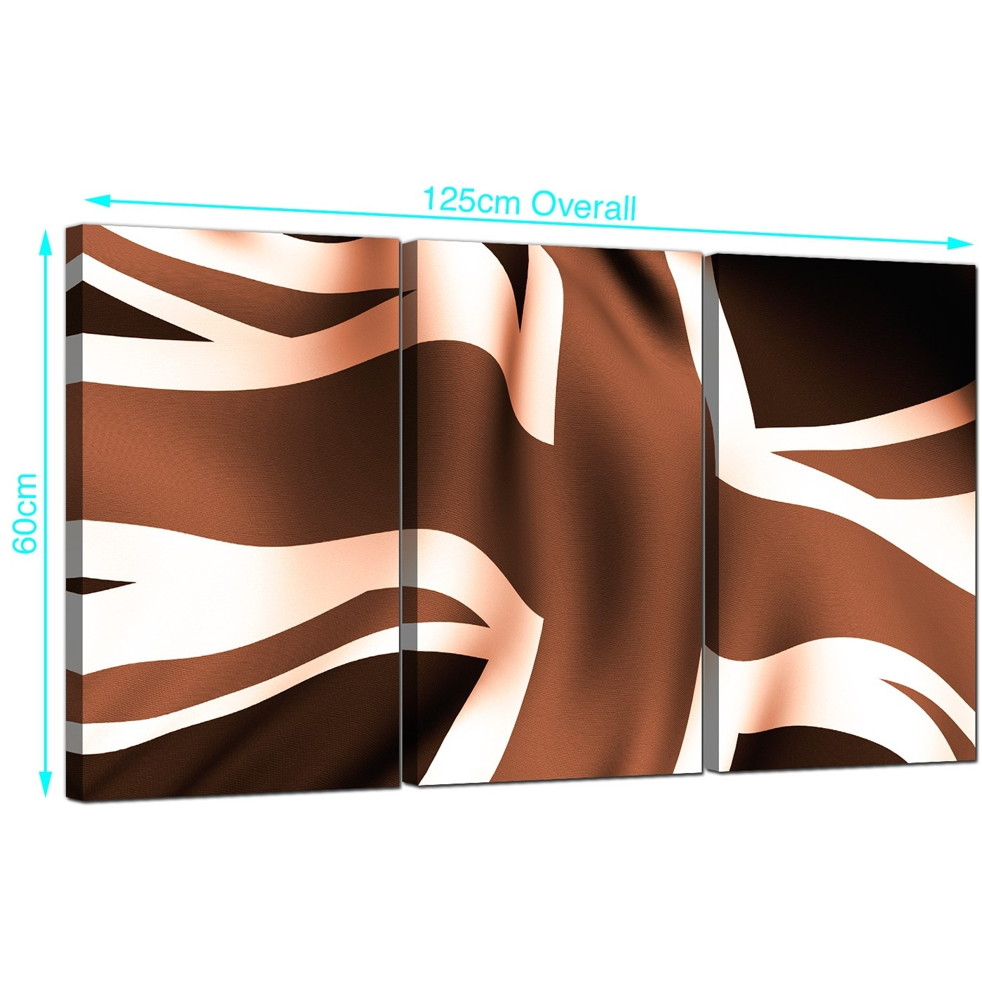 Union Jack Canvas Prints Set Of 3 For Your Dining Room within 2017 Union Jack Canvas Wall Art