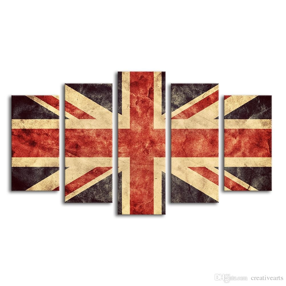 Union Jack Giclee Painting Creative Flag Of Great Britain Canvas Inside 2017 Union Jack Canvas Wall Art (View 2 of 15)