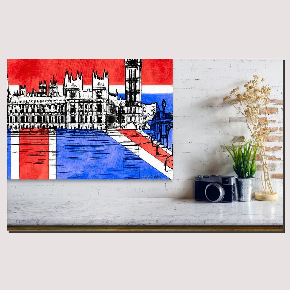 Union Jack Wall Art With Signature Gothic Revival Parliament Inside Most Recent Union Jack Canvas Wall Art (View 9 of 15)