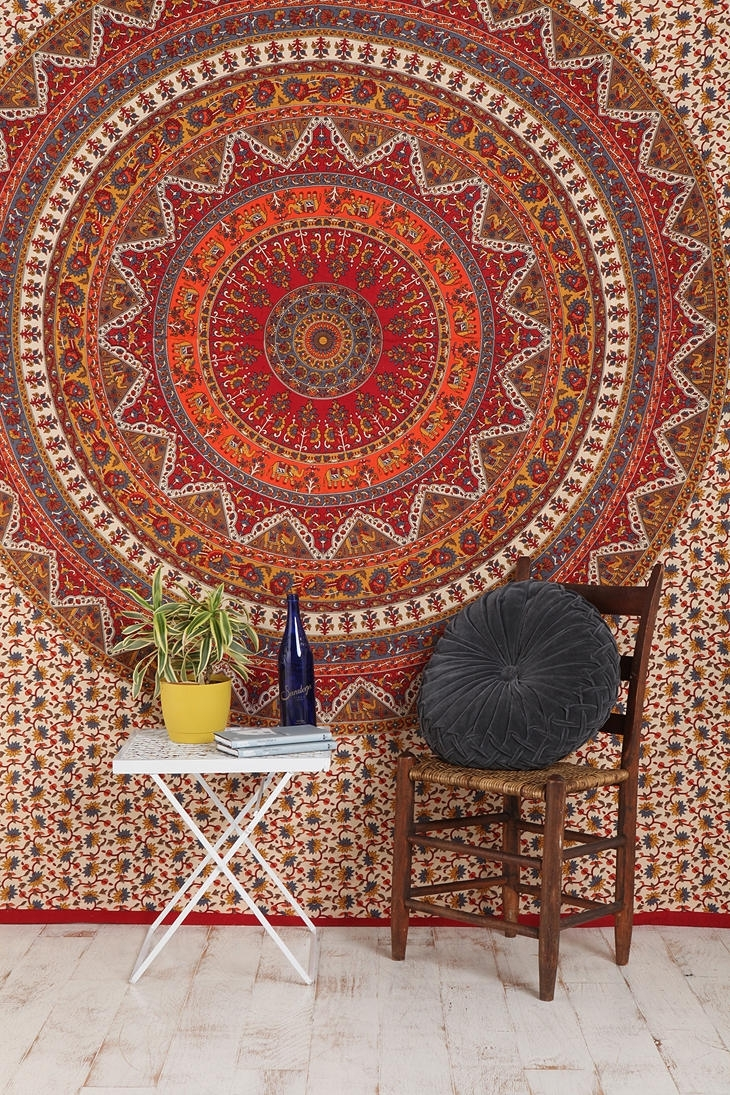 "Urban Outfitters: Kerala Tapestry / ""woven Cotton Tapestry That?s In Current Fabric Wall Art Urban Outfitters (View 11 of 15)"