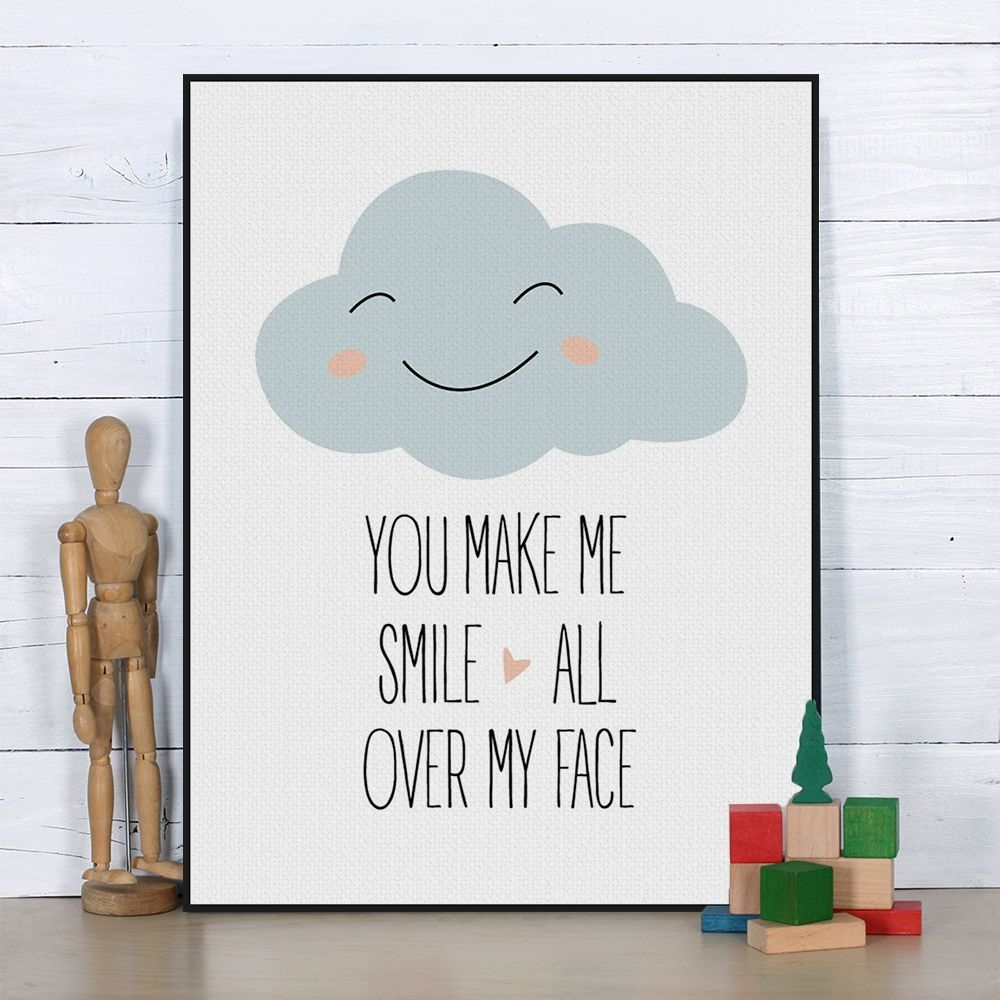 Us $4.55 — Aliexpress Product – Nordic Kawaii Love Quotes Throughout Most Recently Released Modern Nursery Canvas Wall Art (Gallery 4 of 15)