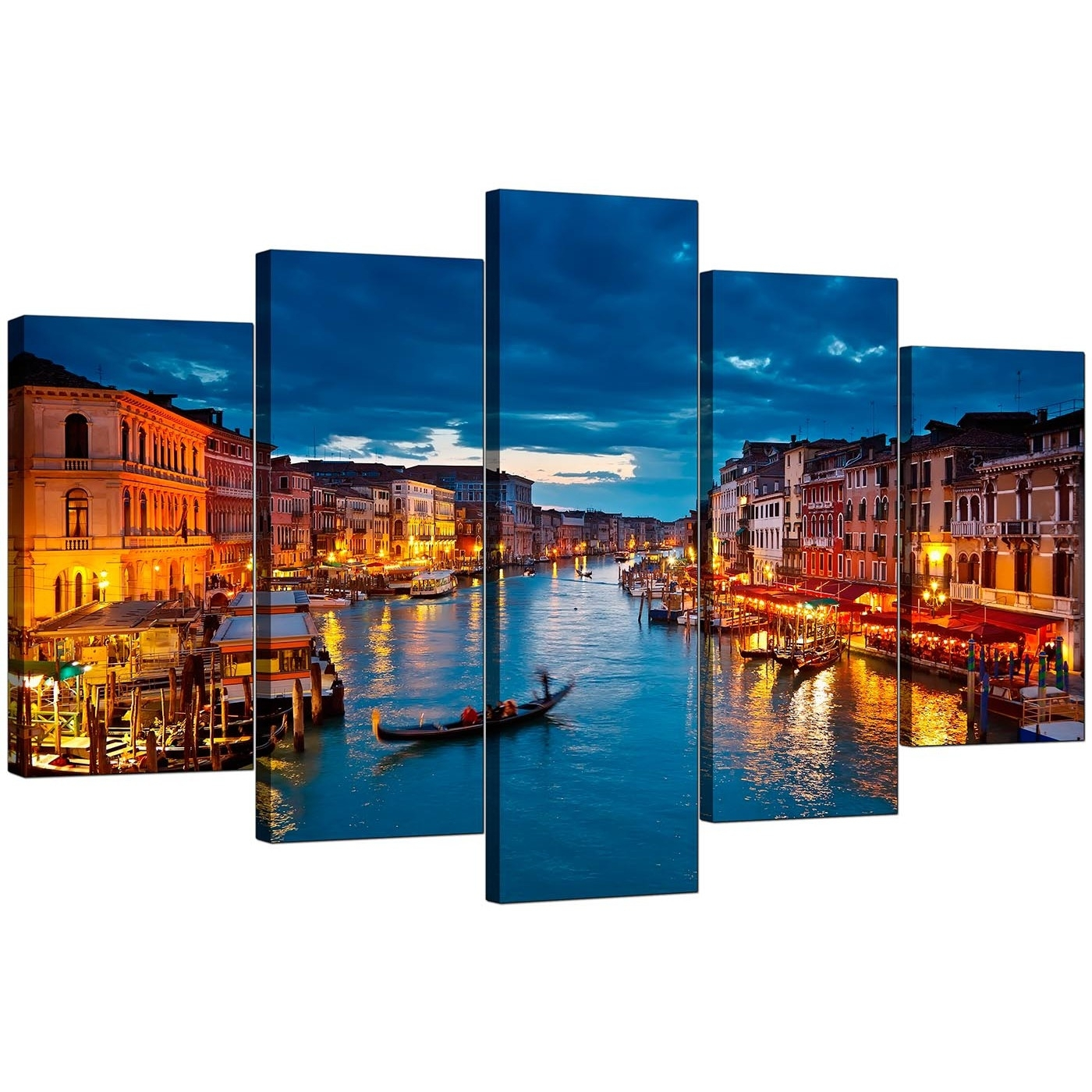Venice Italy Canvas Prints For Your Living Room – 5 Panel With Regard To Recent Canvas Wall Art Of Italy (View 2 of 15)