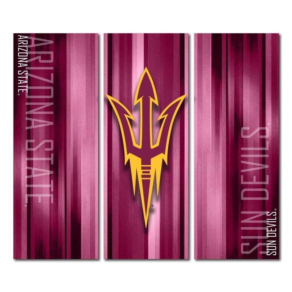 Victory Tailgate – Arizona State Asu Sun Devils Triptych Canvas For Recent Arizona Canvas Wall Art (View 13 of 15)