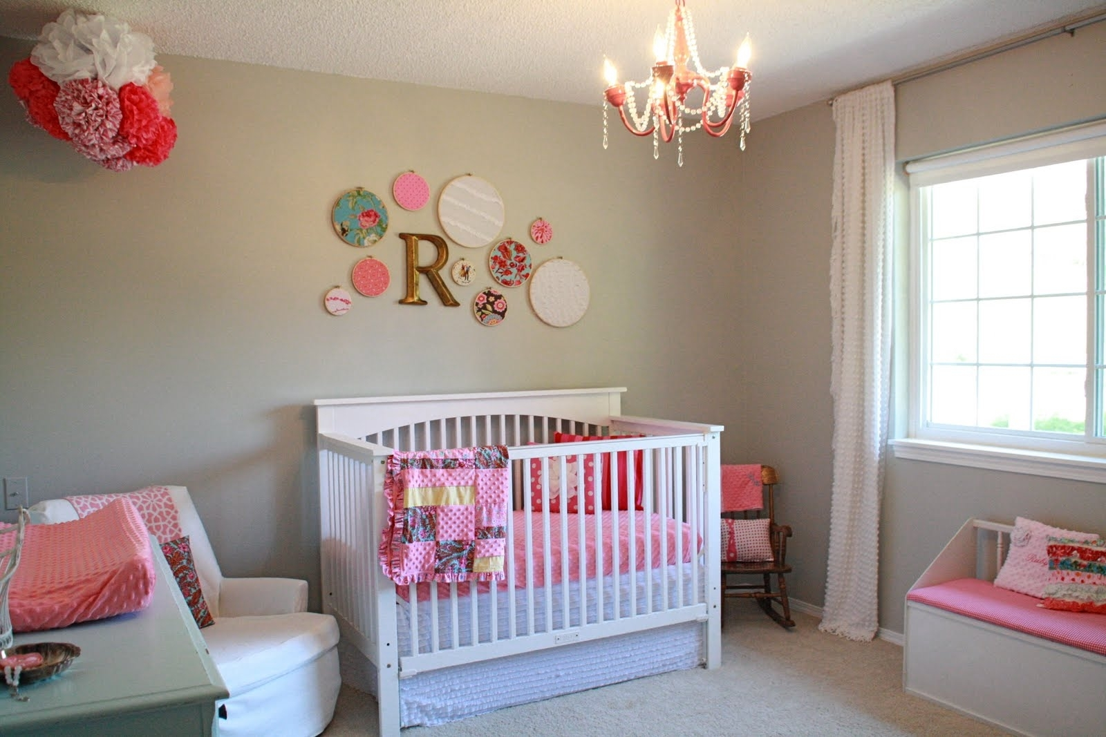 Vintage Baby Nursery Room Themed Feat Decorative Wall Accessories intended for Most Recently Released Girl Nursery Wall Accents