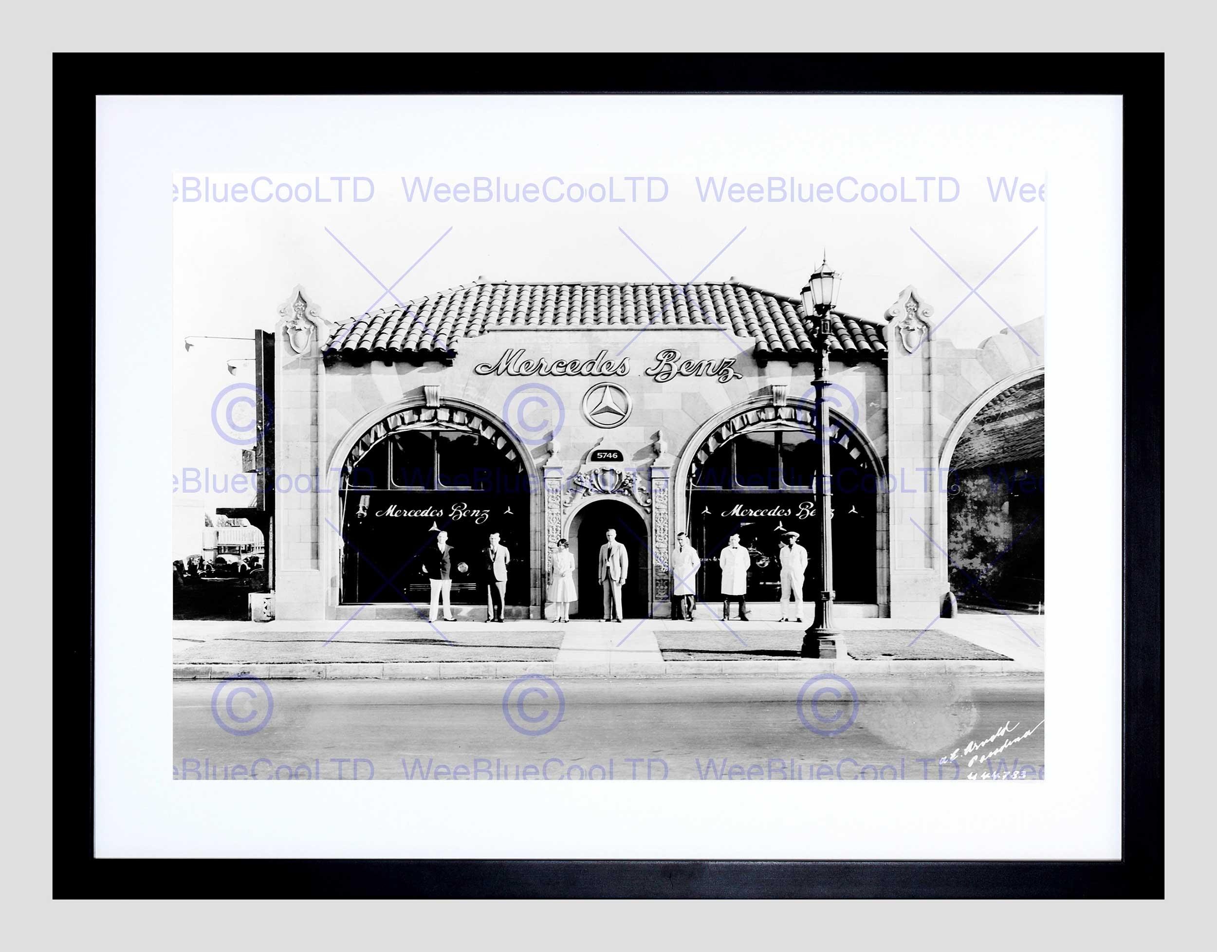 Vintage Car Automobile Sale Shop Pasadena Los Angeles Framed Art Regarding 2018 Los Angeles Framed Art Prints (Gallery 2 of 15)