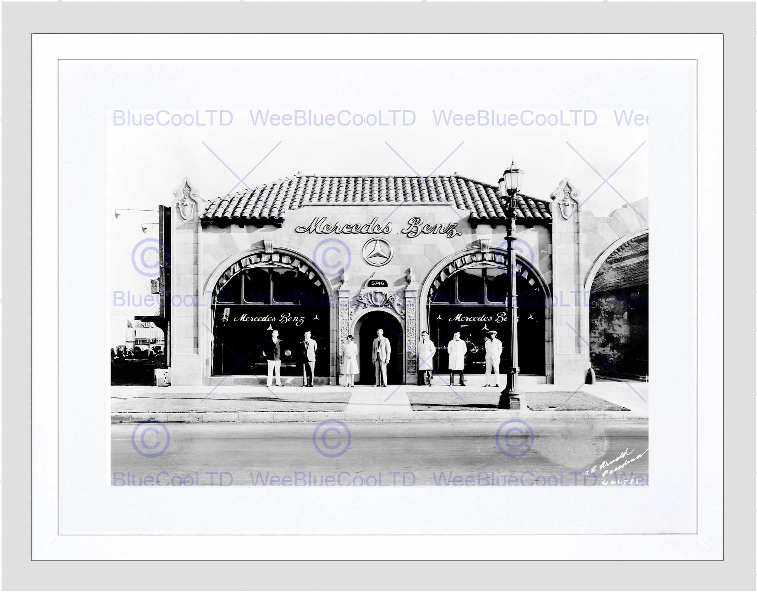 Vintage Car Automobile Sale Shop Pasadena Los Angeles Framed Art Regarding Recent Los Angeles Framed Art Prints (View 13 of 15)