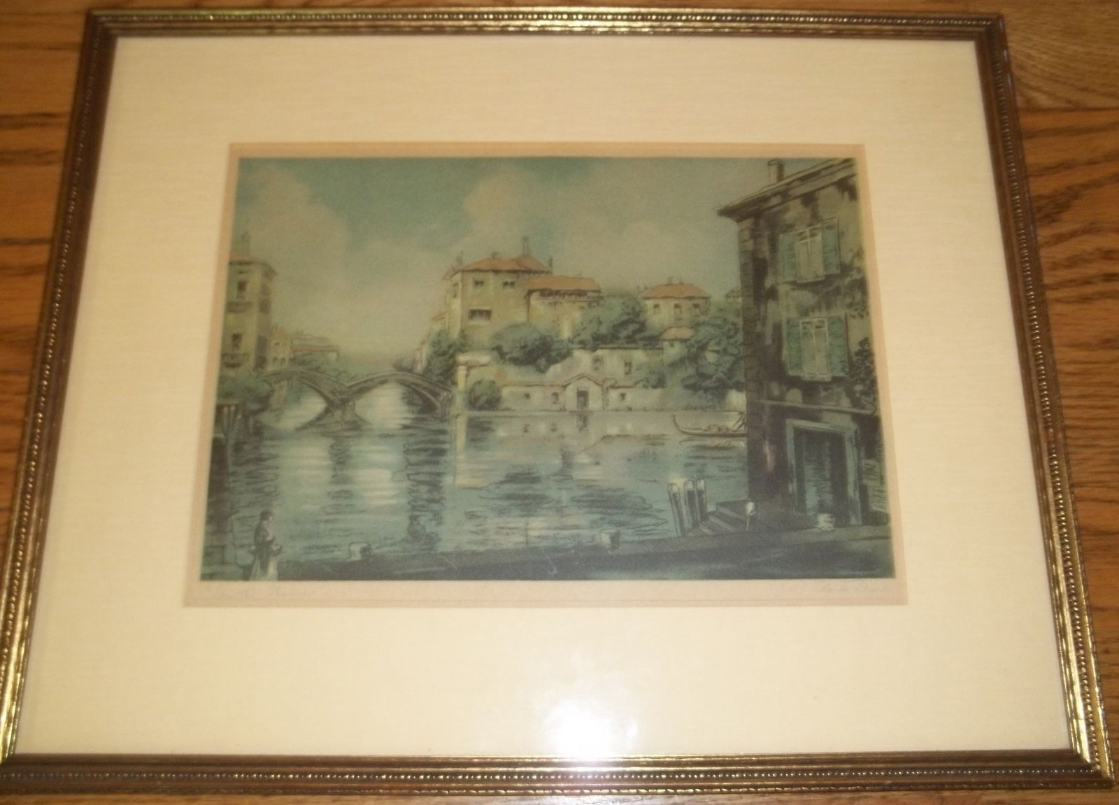 Vintage, Framed Reproduction Print 'on The Thames'claude Regarding Recent Antique Framed Art Prints (Gallery 10 of 15)