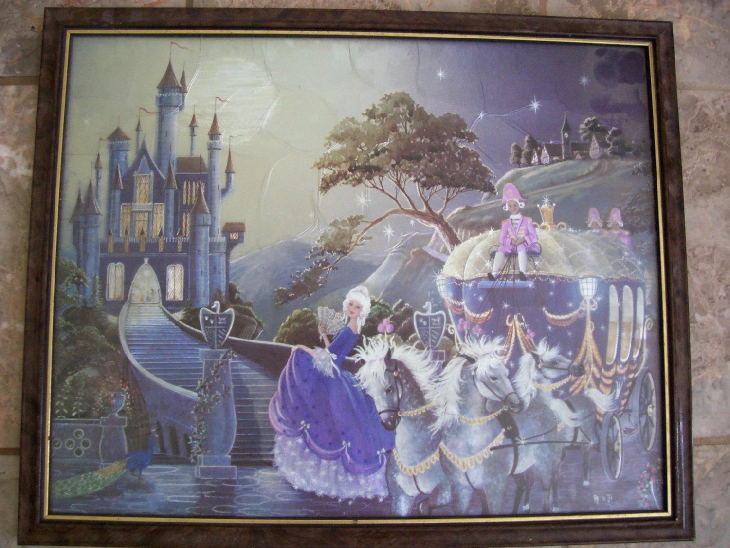 Vintage Iridescent Art Print A Fairy Tale Signed Framed  (View 14 of 15)