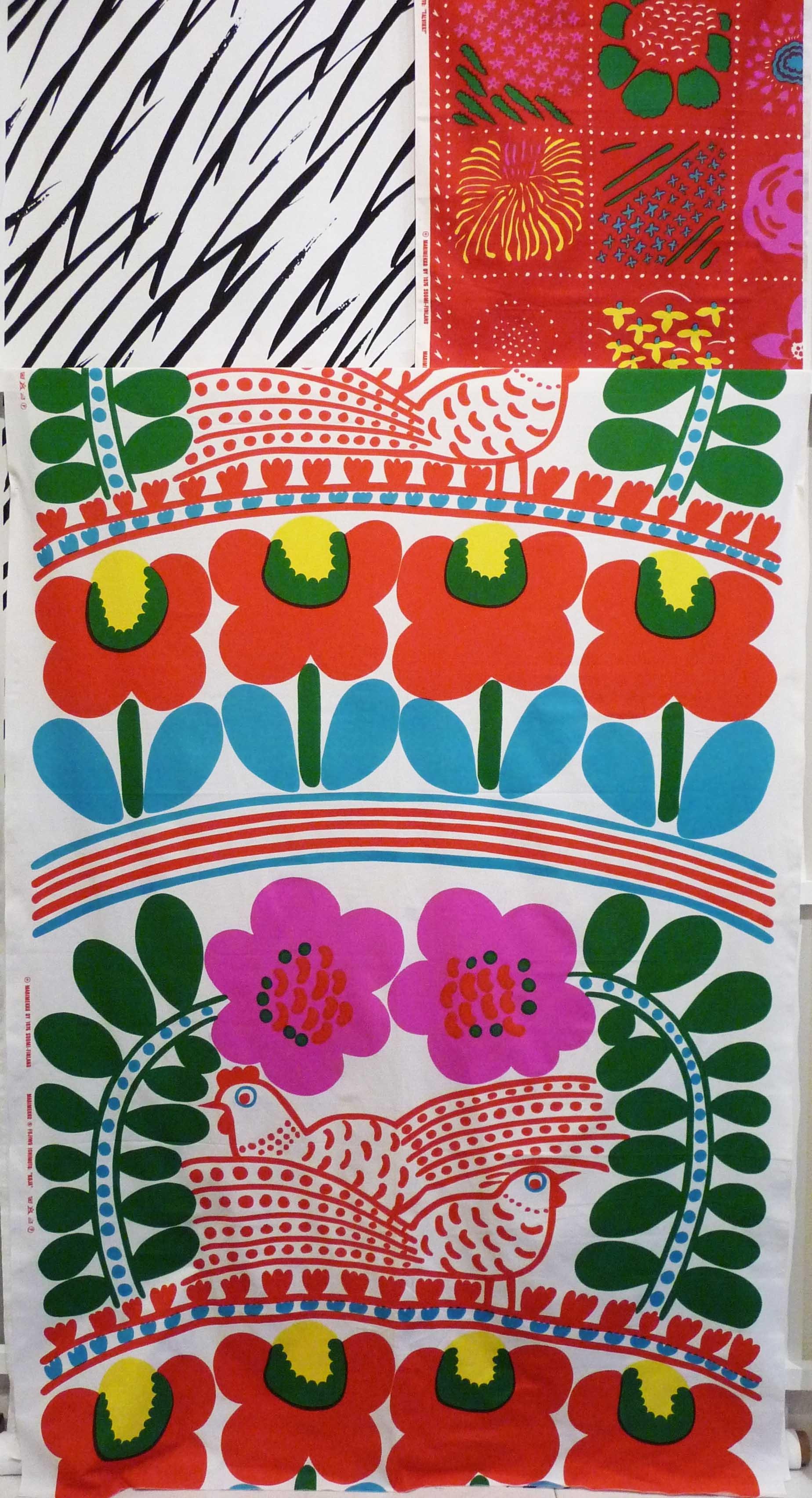 Vintage Marimekko Fabric Designedjapanese Textile Designer With Regard To Best And Newest Marimekko 'karkuteilla' Fabric Wall Art (View 14 of 15)