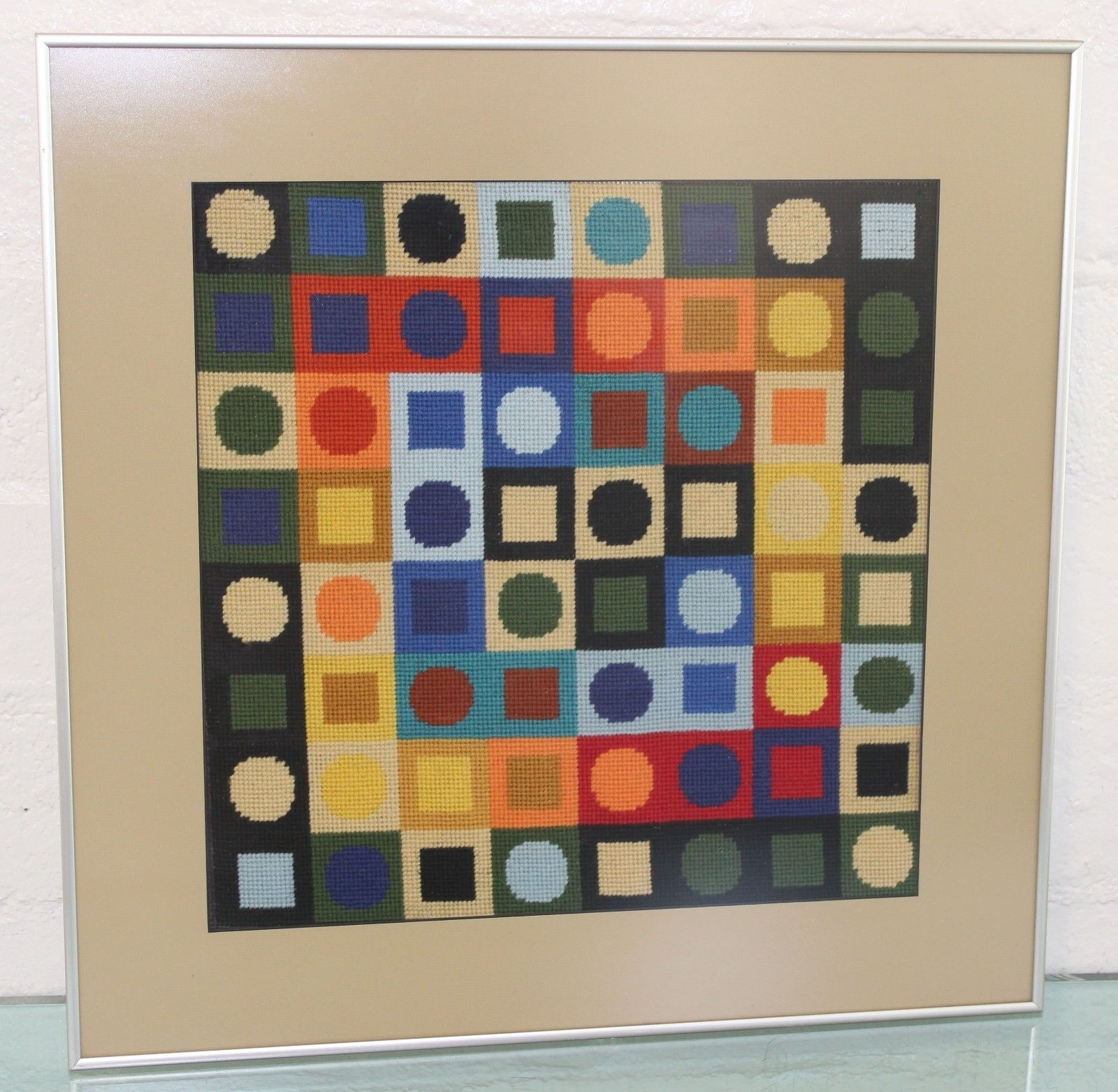 Vintage Mid Century Mod Vasarely Era Geometric Modernist For Latest Mid Century Textile Wall Art (View 13 of 15)