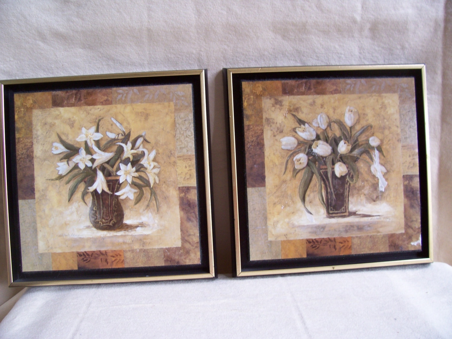 Vintage Pair Botanical Art Printsc (View 15 of 15)