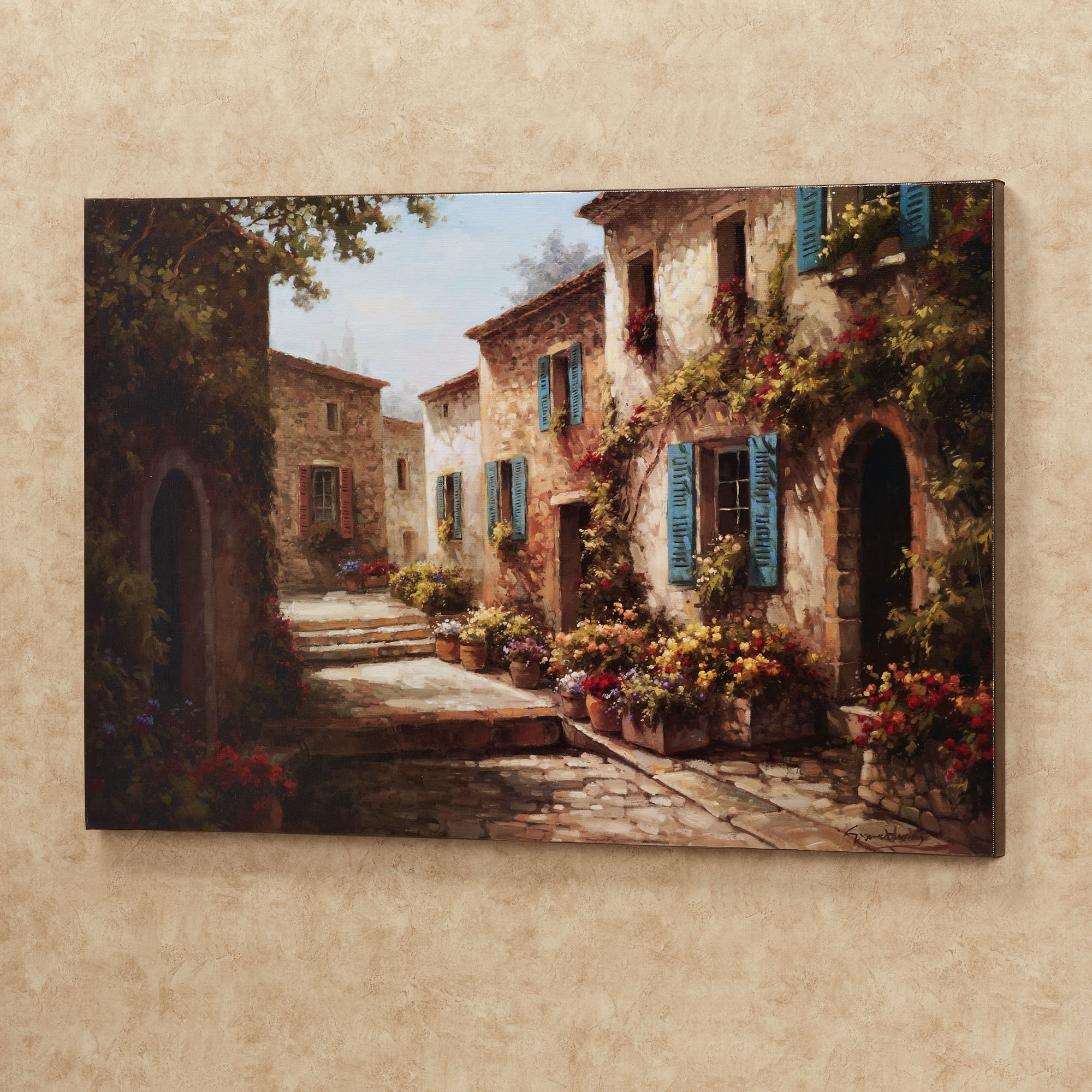Walkway Of Flowers Villas Canvas Wall Art | Walkways, Canvases And With Regard To Recent Joval Canvas Wall Art (View 12 of 15)