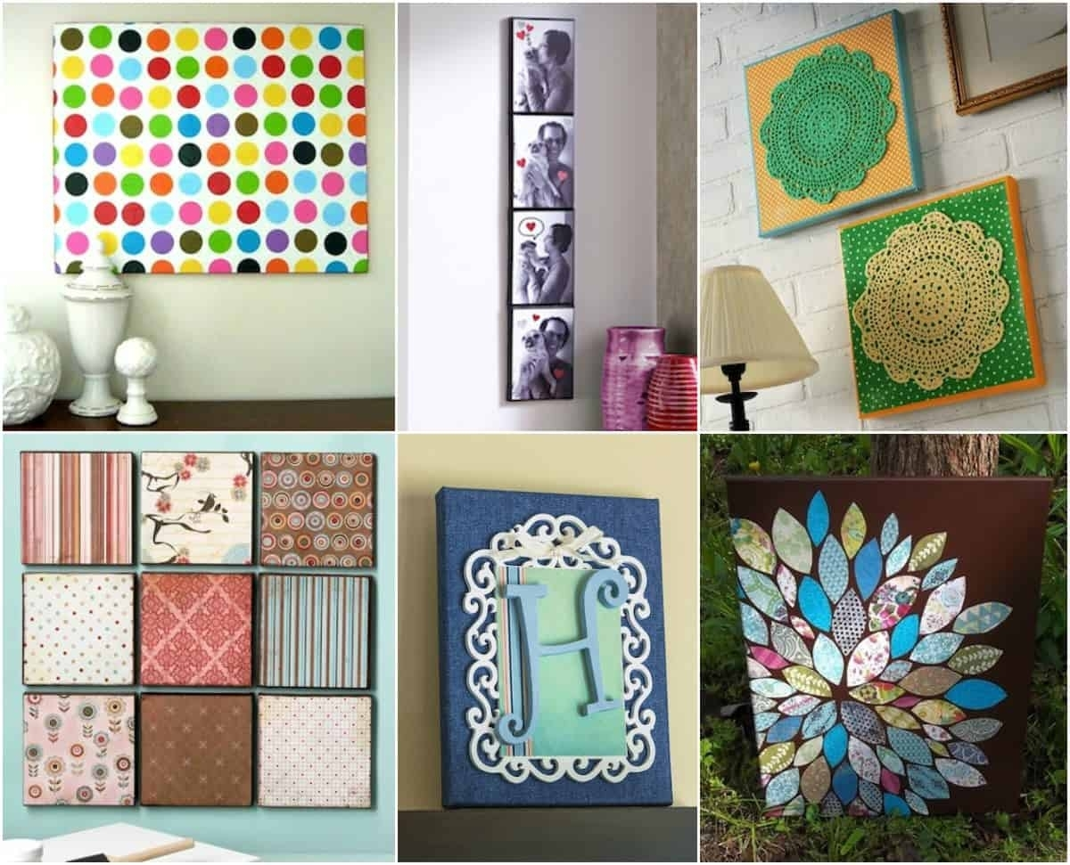 Wall Art – 20 Ways To Mod Podge Canvas – Mod Podge Rocks Throughout Newest Mod Podge Fabric Wall Art (View 10 of 15)