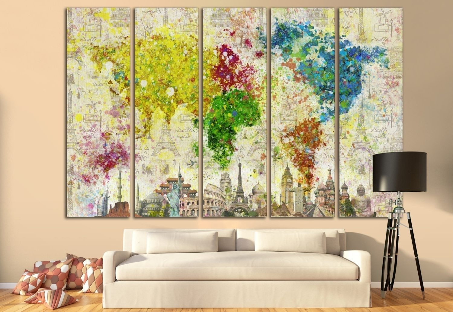 Wall Art: Astonishing Horizontal Wall Art Tall Narrow Wall Art With Most Up To Date Gordmans Canvas Wall Art (View 15 of 15)