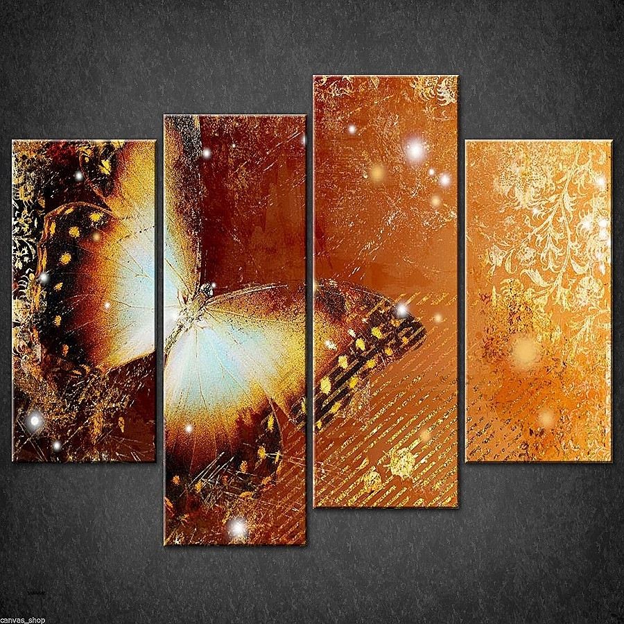 Wall Art Awesome Christian Canvas Wall Art High Definition With Regard To Newest Gold Canvas Wall Art (View 14 of 15)