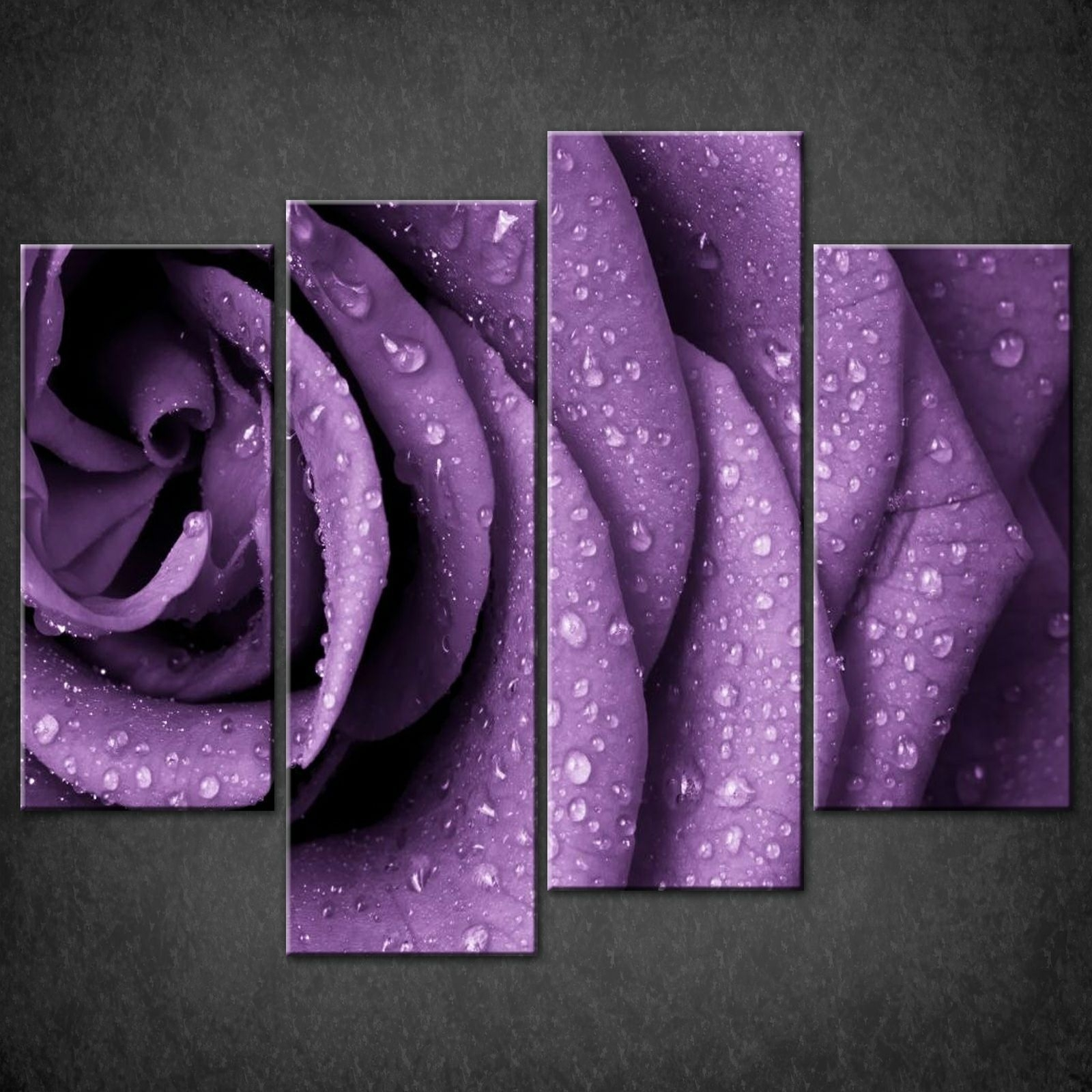 Wall Art: Beautiful Gallery Purple Wall Art Canvas Deep Purple With Latest Roses Canvas Wall Art (View 7 of 15)