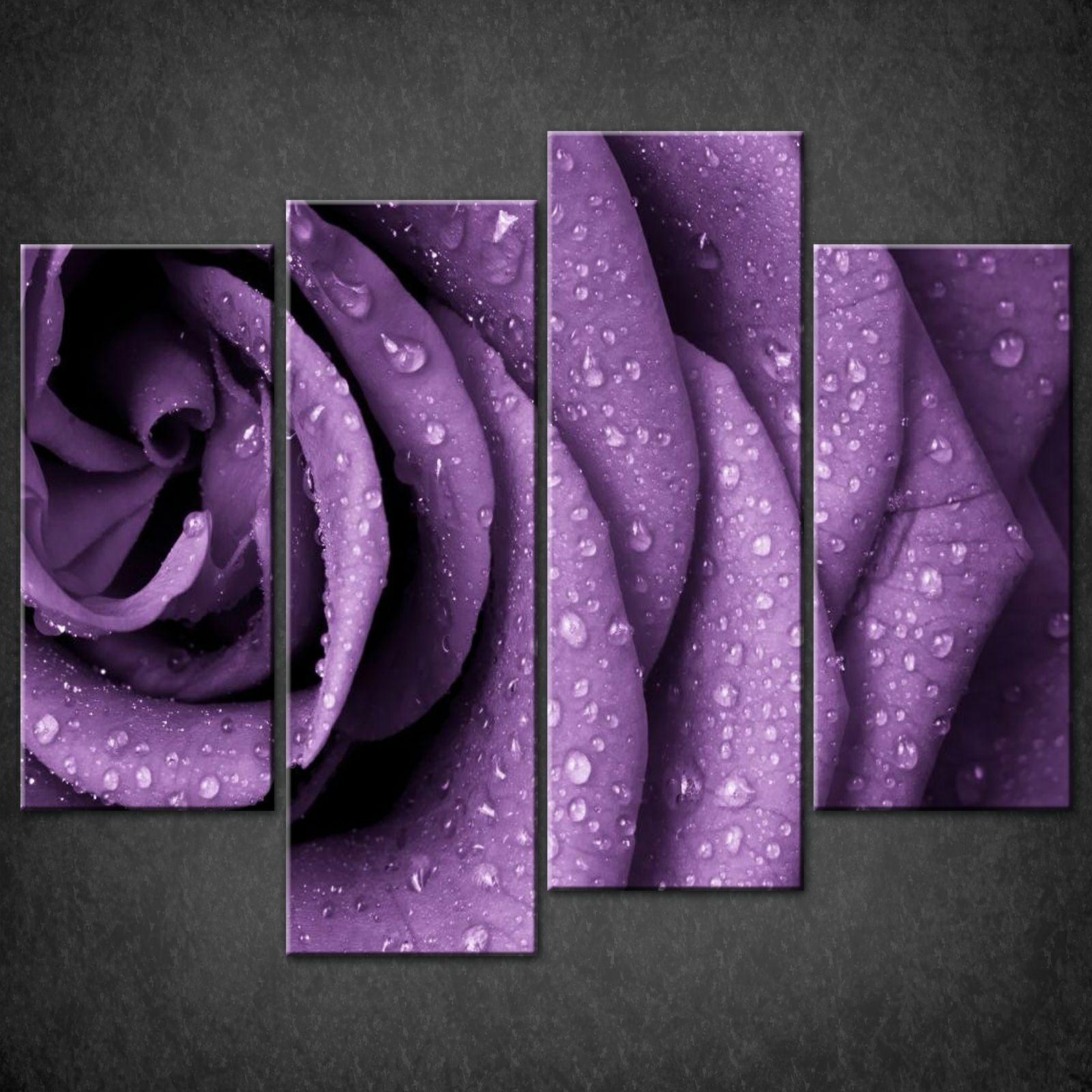 Wall Art: Beautiful Gallery Purple Wall Art Canvas Wall Art With For Current Canvas Wall Art In Purple (View 3 of 15)