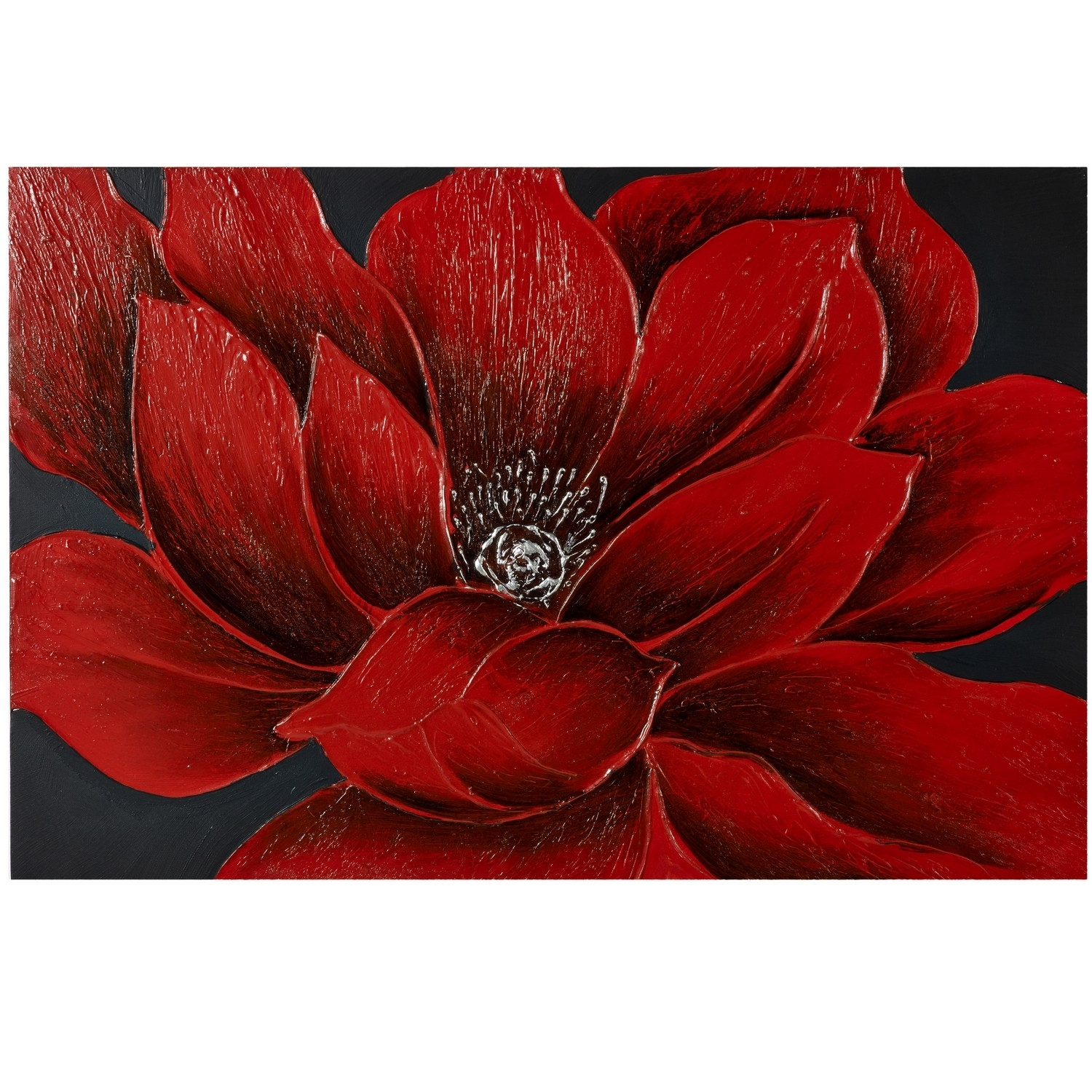 Wall Art: Beautiful Images About Red Flower Canvas Wall Art Large Within 2018 Red Flowers Canvas Wall Art (View 1 of 15)