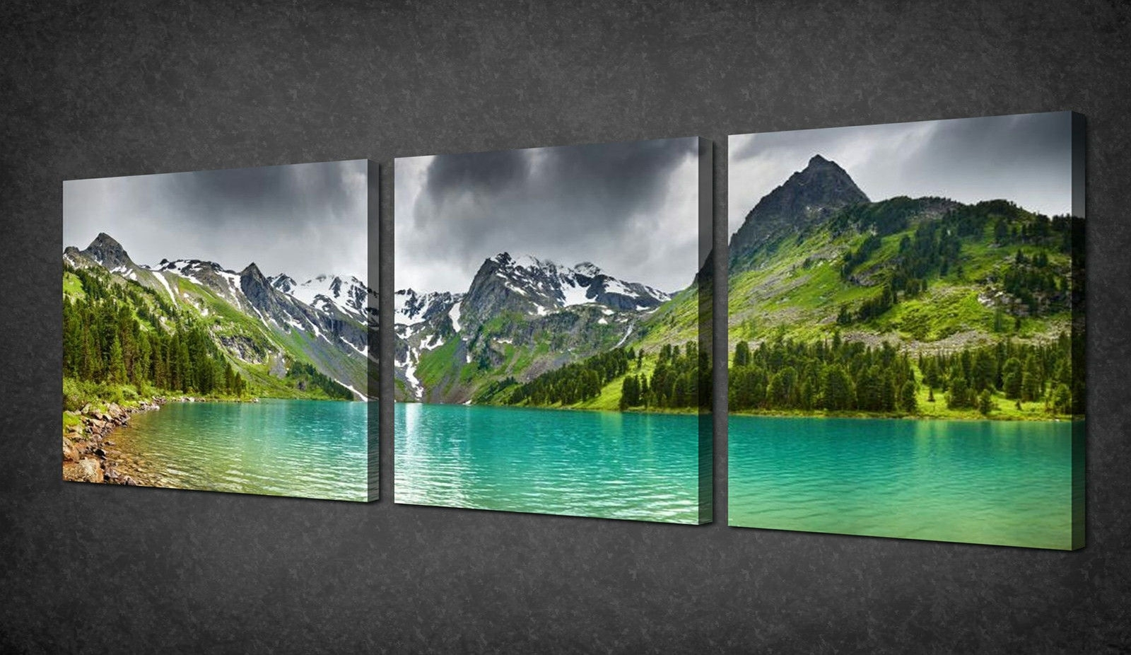 Wall Art: Best Sample Ideas Panoramic Wall Art Glass Wall Art Regarding Most Recently Released Mountains Canvas Wall Art (View 2 of 15)