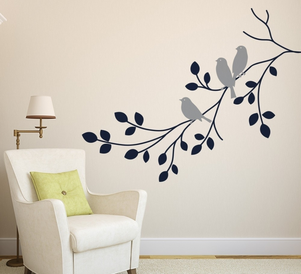 Wall Art Decals Design Decorate Wall Art Decals Ideas For Wall With 2017 Adhesive Art Wall Accents (View 12 of 15)