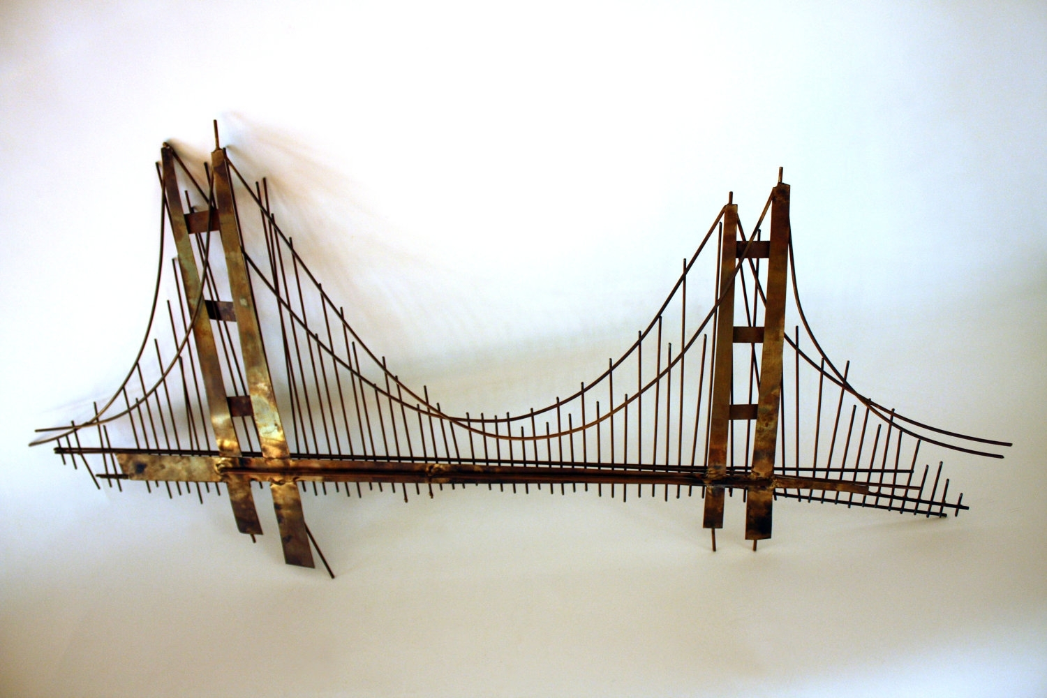 Wall Art Decor: 3 Dimension Hanging Golden Gate Bridge Wall Art With Regard To Most Recently Released Golden Gate Bridge Canvas Wall Art (View 11 of 15)
