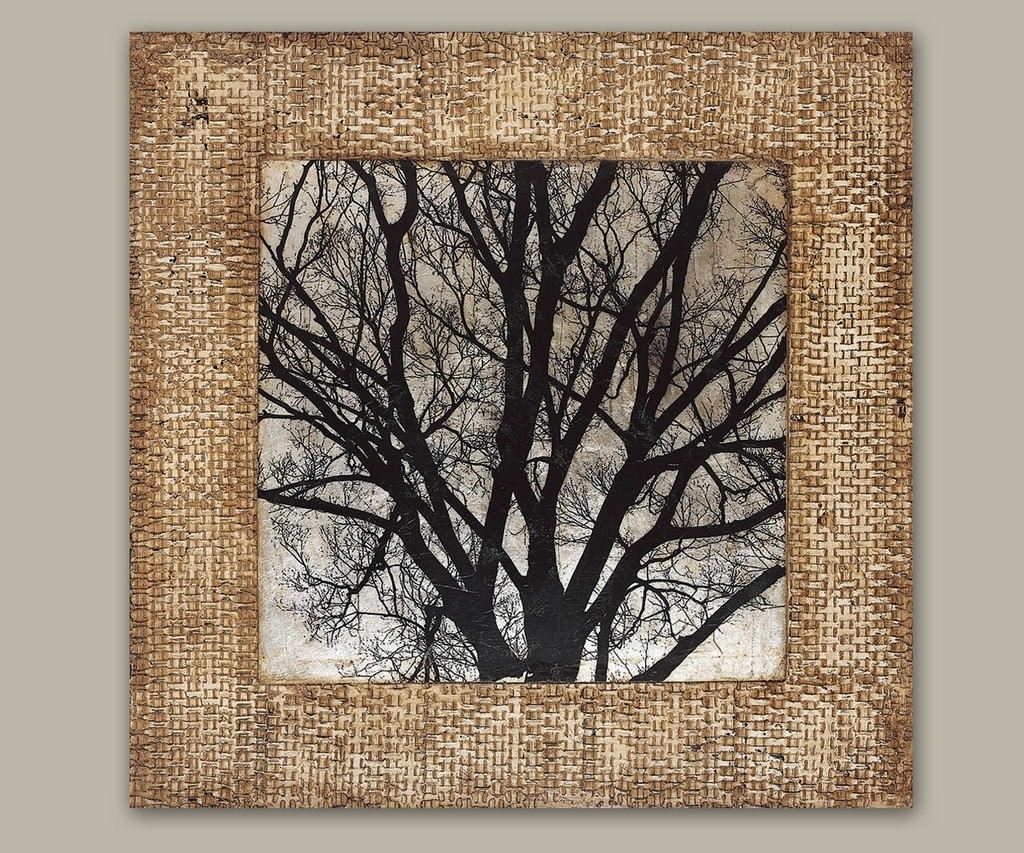 Wall Art Decor: Modern Branches Textured Wall Art Black White For Most Up To Date Textured Fabric Wall Art (View 2 of 15)