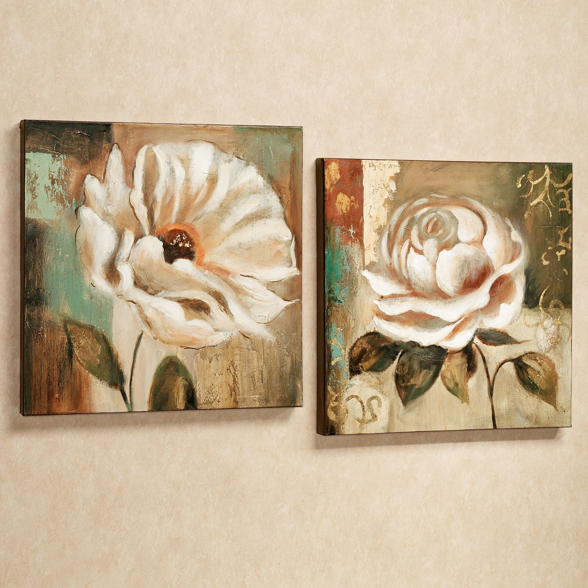 Wall Art Design: Floral Canvas Wall Art Garden Delicacies Canvas In 2018 Rectangular Canvas Wall Art (View 9 of 15)