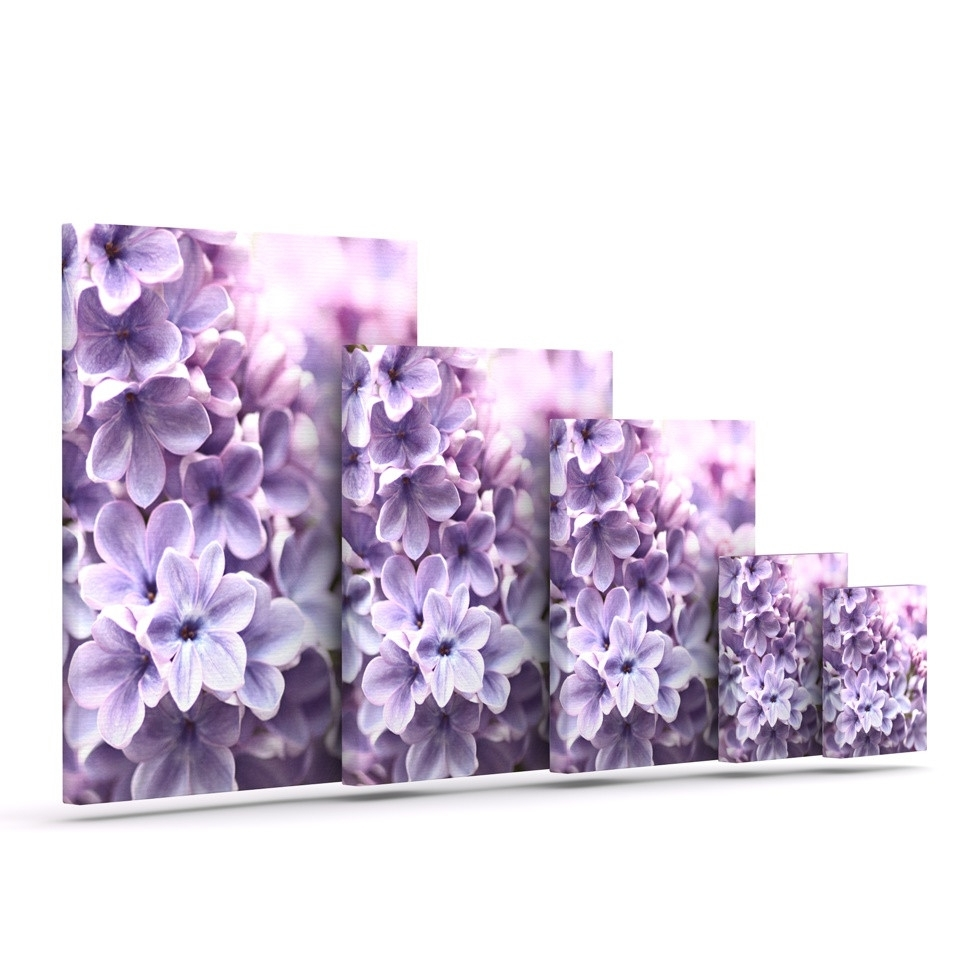 Wall Art Design Ideas: Beautiful Lilac Canvas Wall Art, Lilac Pertaining To Most Popular Purple Flowers Canvas Wall Art (View 14 of 15)