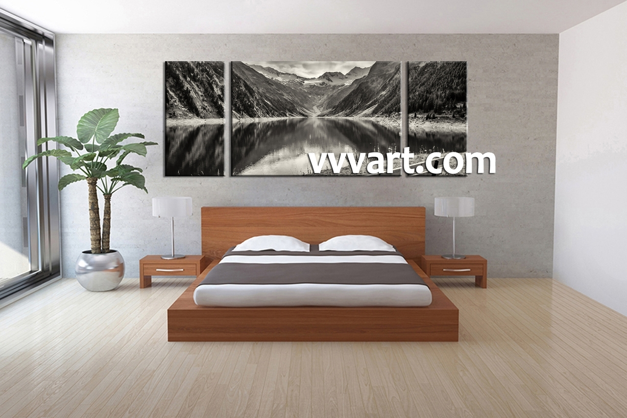 Wall Art Design Ideas: Mountain Natural Bedroom Wall Art Canvas Throughout Current Bedroom Canvas Wall Art (View 13 of 15)