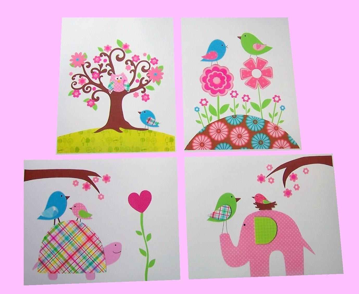 Wall Art Design Ideas: Paper Cuts Handmade Kid Wall Art Fabric For Recent Childrens Fabric Wall Art (View 8 of 15)