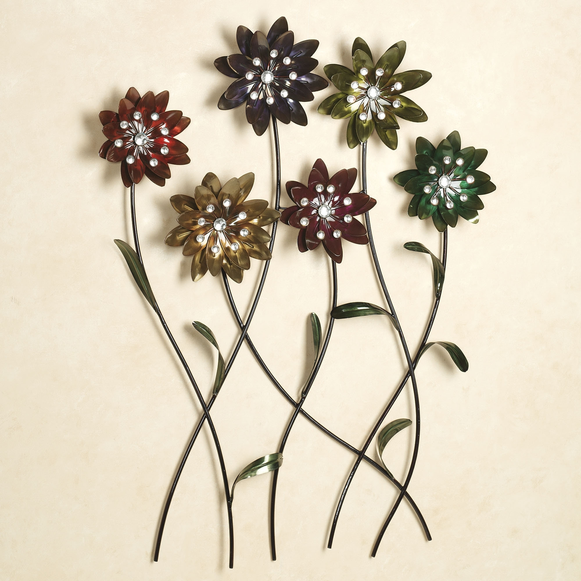 Wall Art Design Ideas: Prodigious Metal Floral Wall Art Wallpaper Pertaining To Most Current Flowers Wall Accents (View 13 of 15)