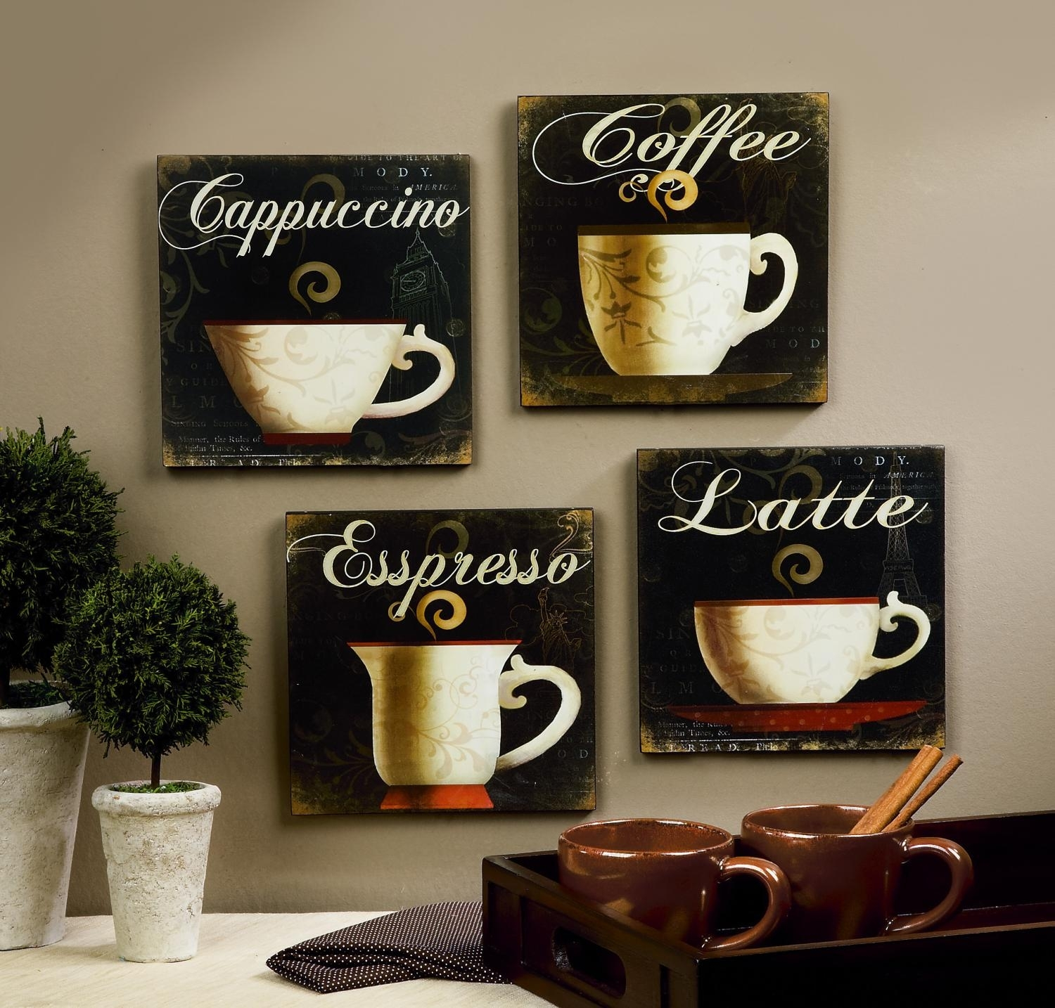 Wall Art Design Ideas: Simple House Coffee Wall Art Decorative With Recent Coffee Canvas Wall Art (View 15 of 15)