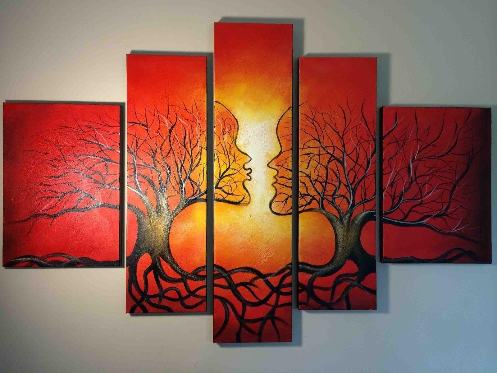 Wall Art Designs: Abstract Wall Art Red Abstract Oil Painting With Most Up To Date Large Red Canvas Wall Art (View 8 of 15)