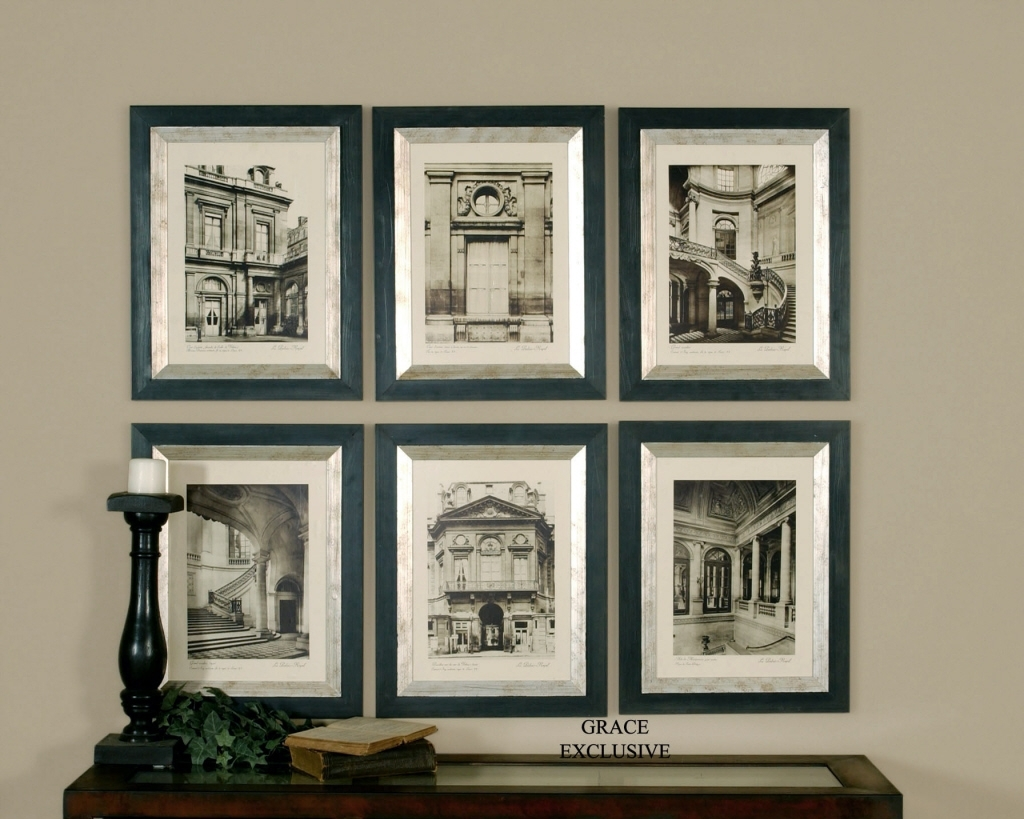 Wall Art Designs: Framed Wall Art Uttermost Paris Scene Framed Art With 2017 Framed Art Prints Sets (View 1 of 15)
