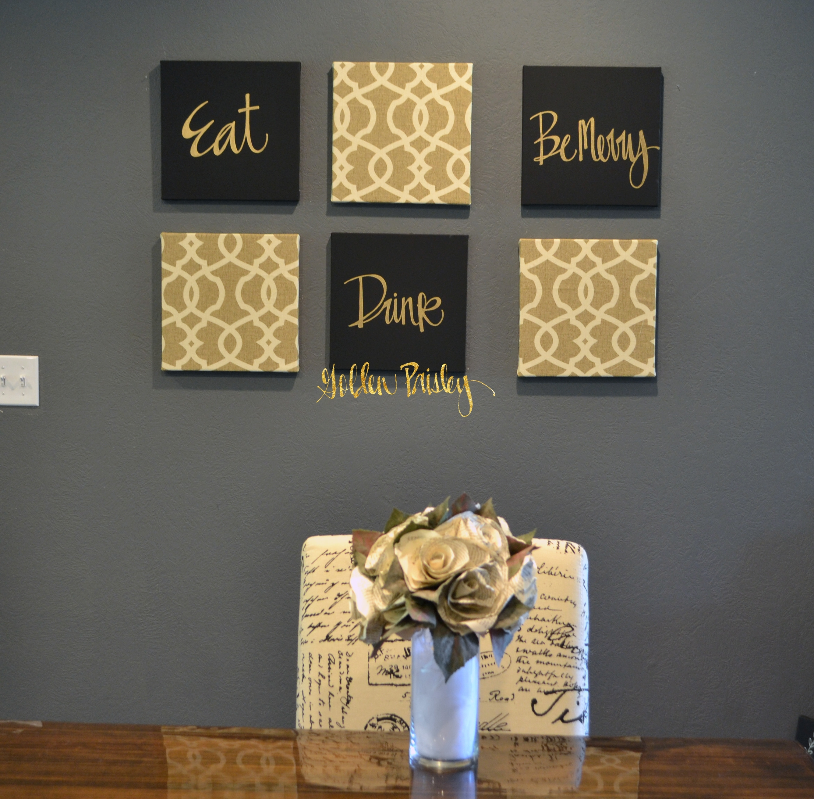 Wall Art Designs: Gold Wall Art Live Laugh Love Wall Art Pack Of 6 In Most Popular Large Modern Fabric Wall Art (View 14 of 15)