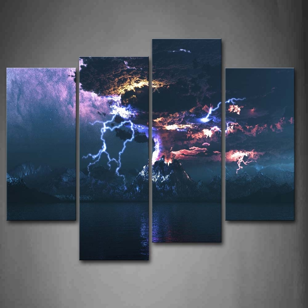Wall Art Designs: Sensational Canvas Lightning Wall Art Closer Within Most Current Jump Canvas Wall Art (View 15 of 15)