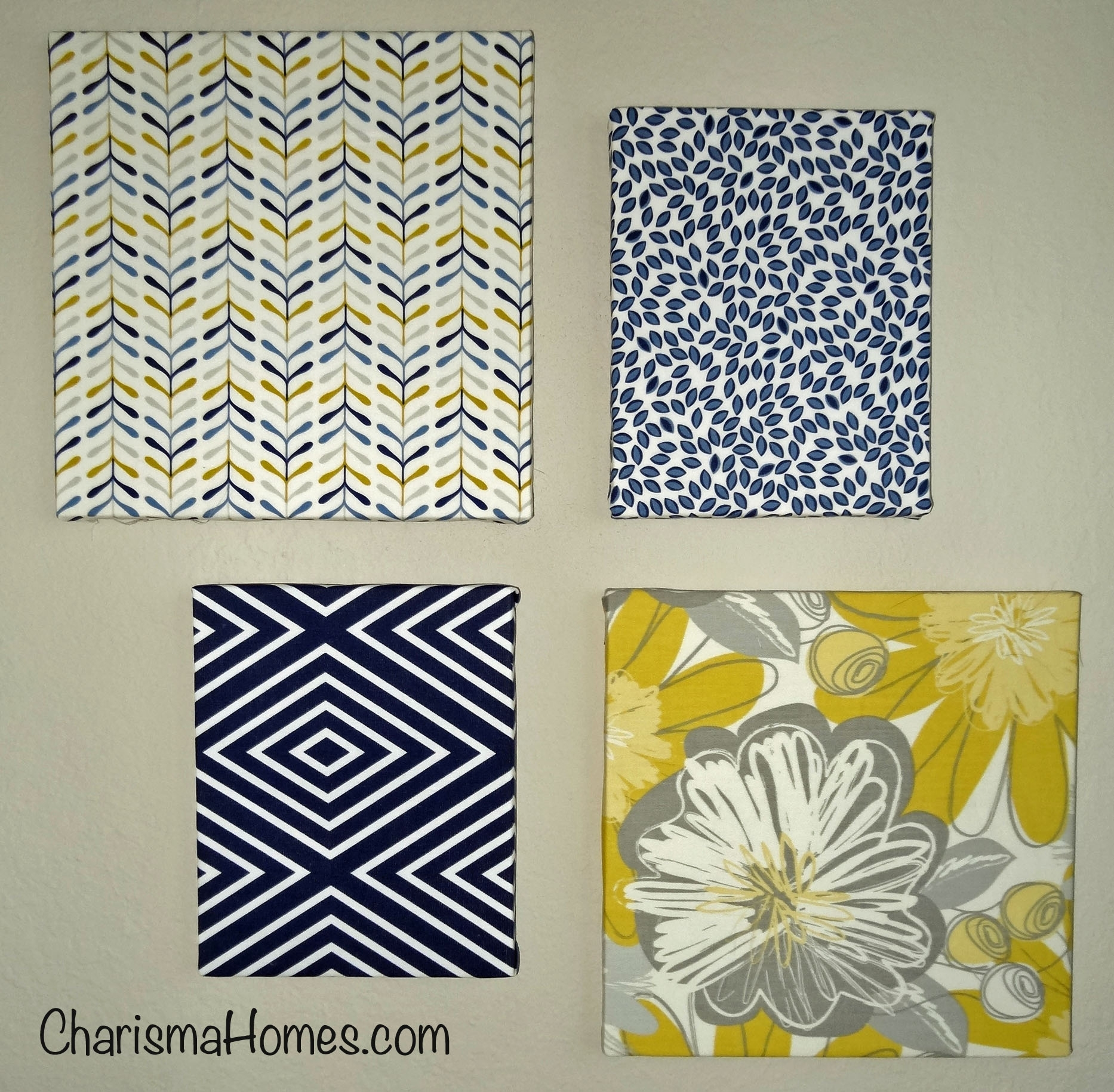 Wall Art Designs: Terrific Fabric Covered Canvas Wall Art Simple Inside Latest Blue Fabric Wall Art (View 14 of 15)