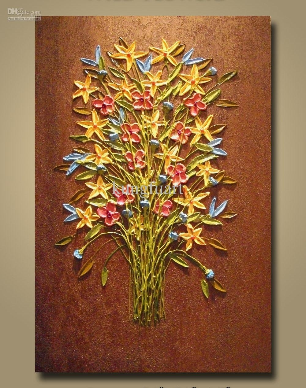 Wall Art Designs: Wall Art Paintings 100 Hand Painted Heavy With Regard To Most Current Hand Painted Canvas Wall Art (View 11 of 15)