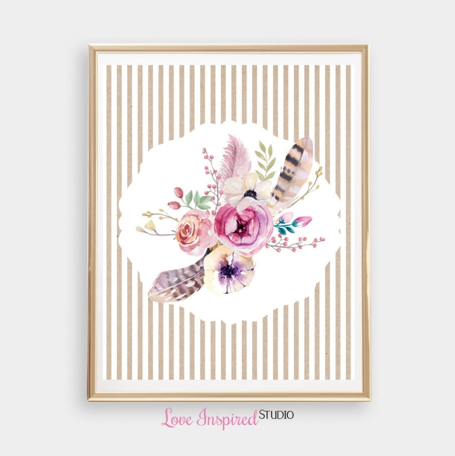 Wall Art Designs: Wall Art Prints Flower Bouquet Printable Wall Pertaining To Most Popular Shabby Chic Framed Art Prints (View 14 of 15)