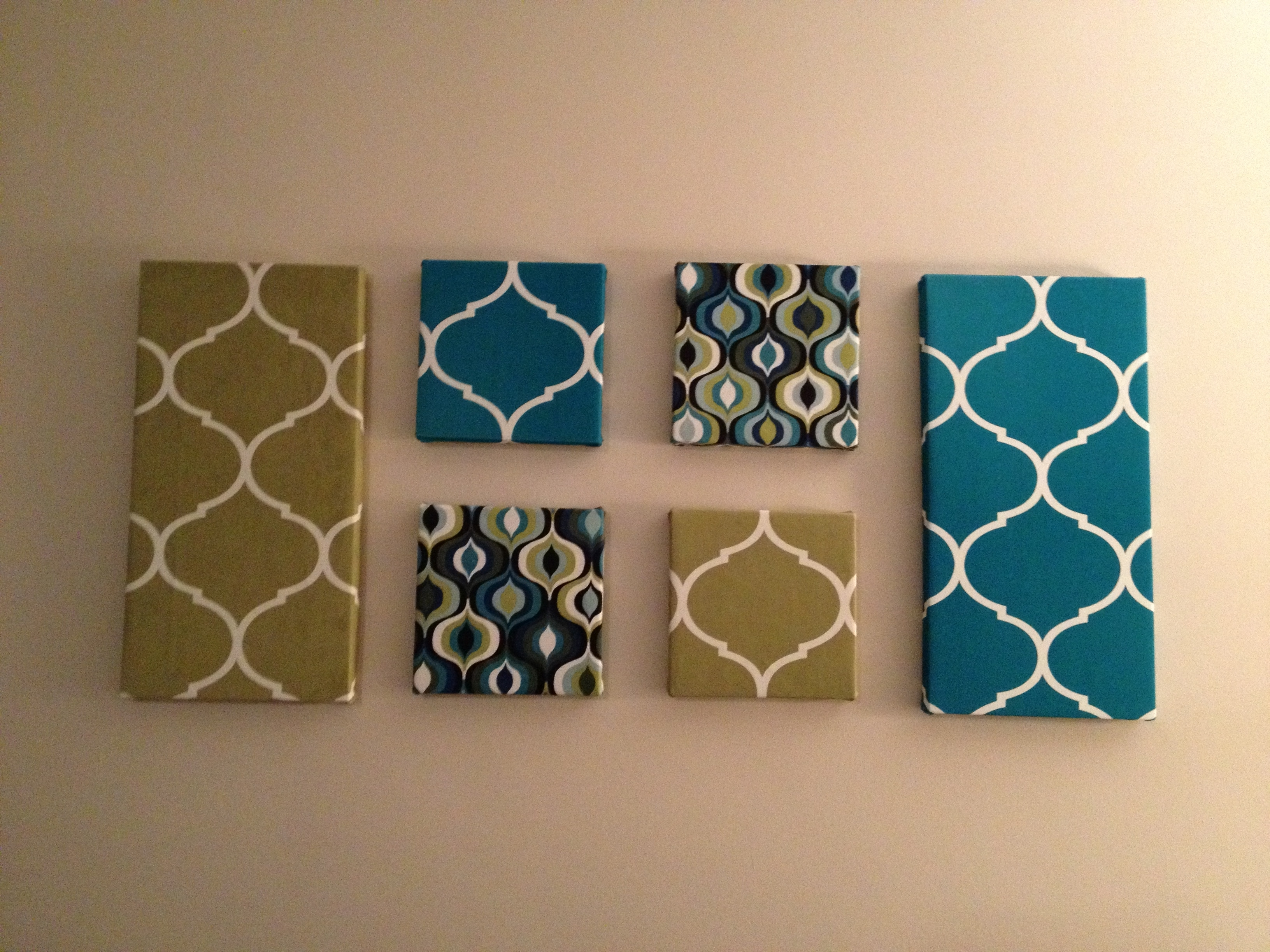 Wall Art: Fabric Covered Canvases | Candy And Her Cupcakes For 2017 Canvas And Fabric Wall Art (View 2 of 15)