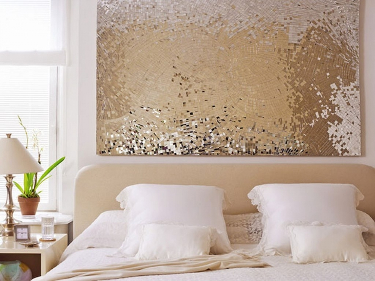 Wall Art Ideas For Bedroom, Diy Christmas Wall Decorations Diy Intended For Best And Newest Gold Wall Accents (View 13 of 15)