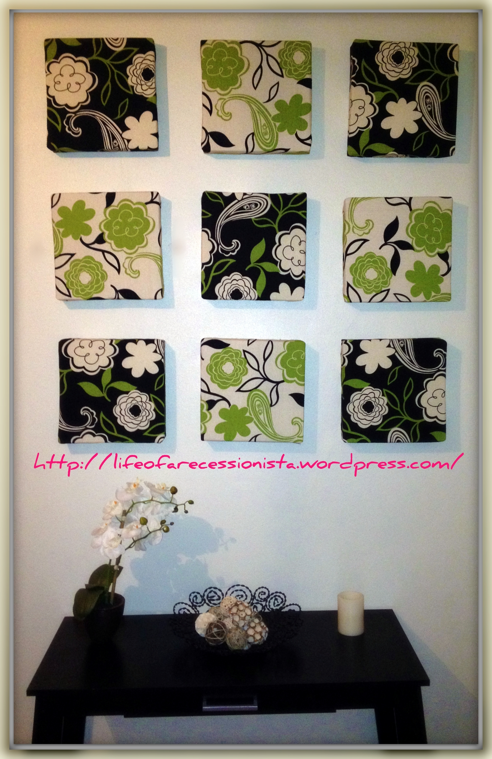 Wall Art | Life Of A Recessionista Pertaining To Most Current Fabric Covered Foam Wall Art (View 10 of 15)