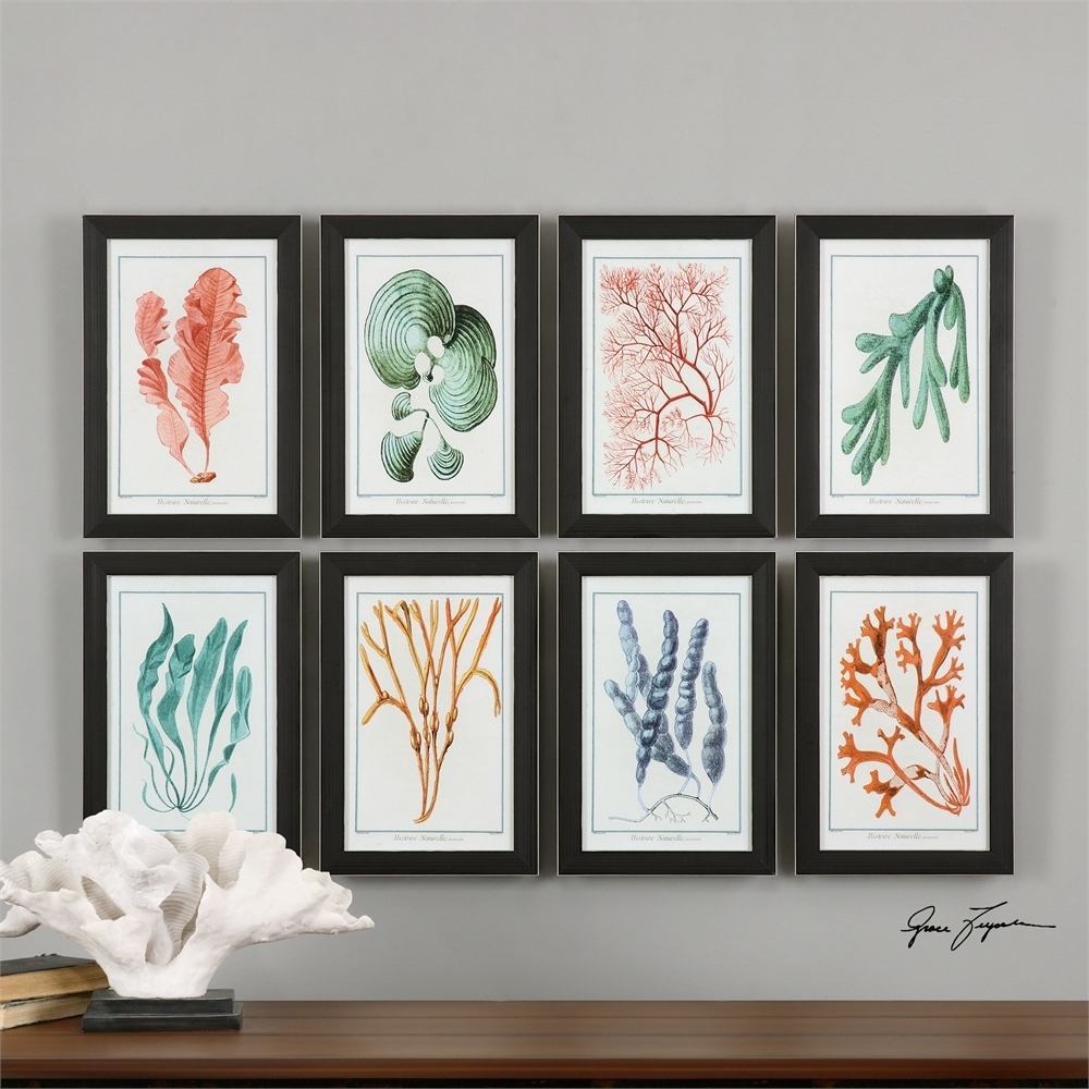 Wall Art Mirrors And Framed Pictures In 2017 Framed Coral Art Prints (View 3 of 15)