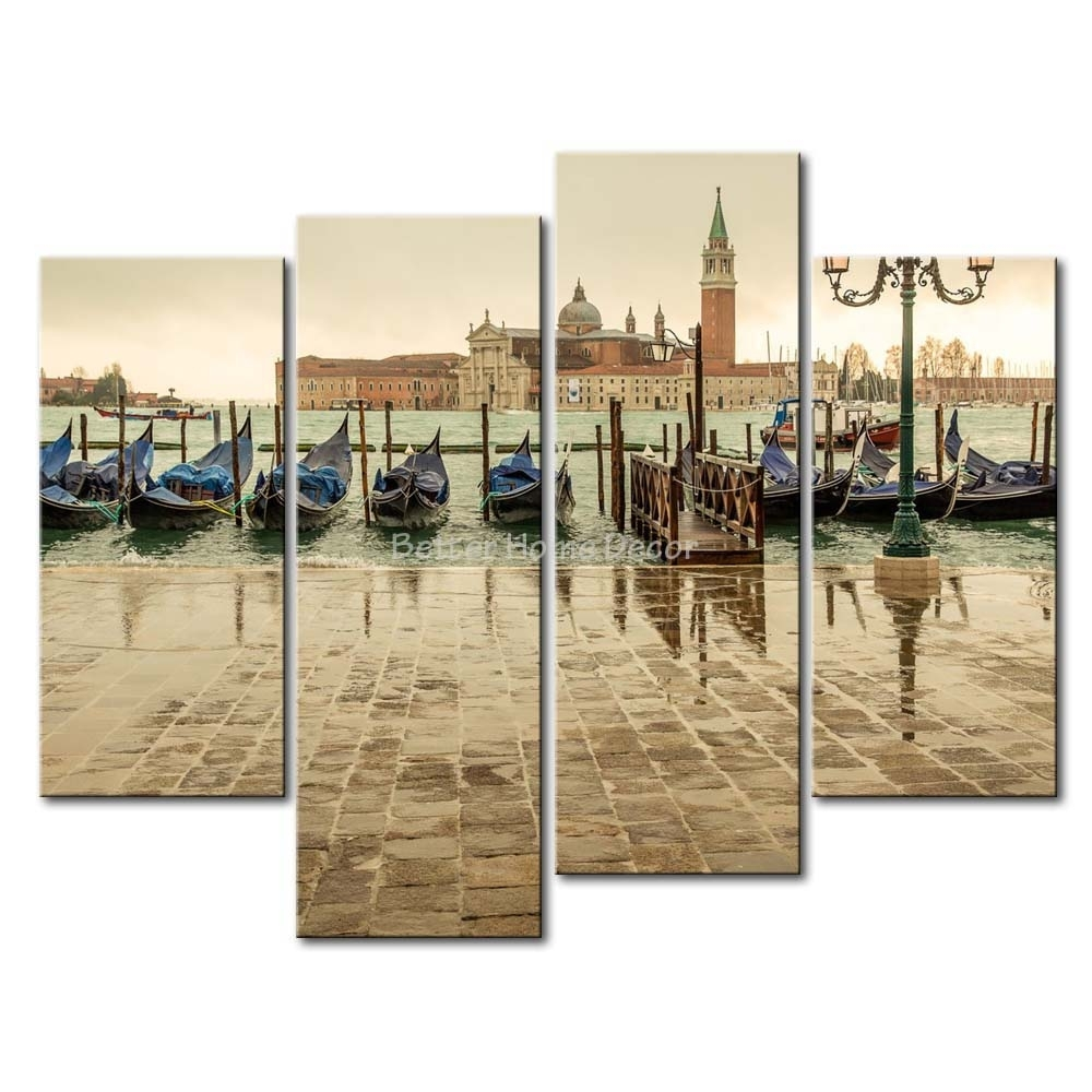 Wall Art: Top 10 Collection Venice Wall Art How Large Is Venice Pertaining To Current Italy Canvas Wall Art (View 13 of 15)