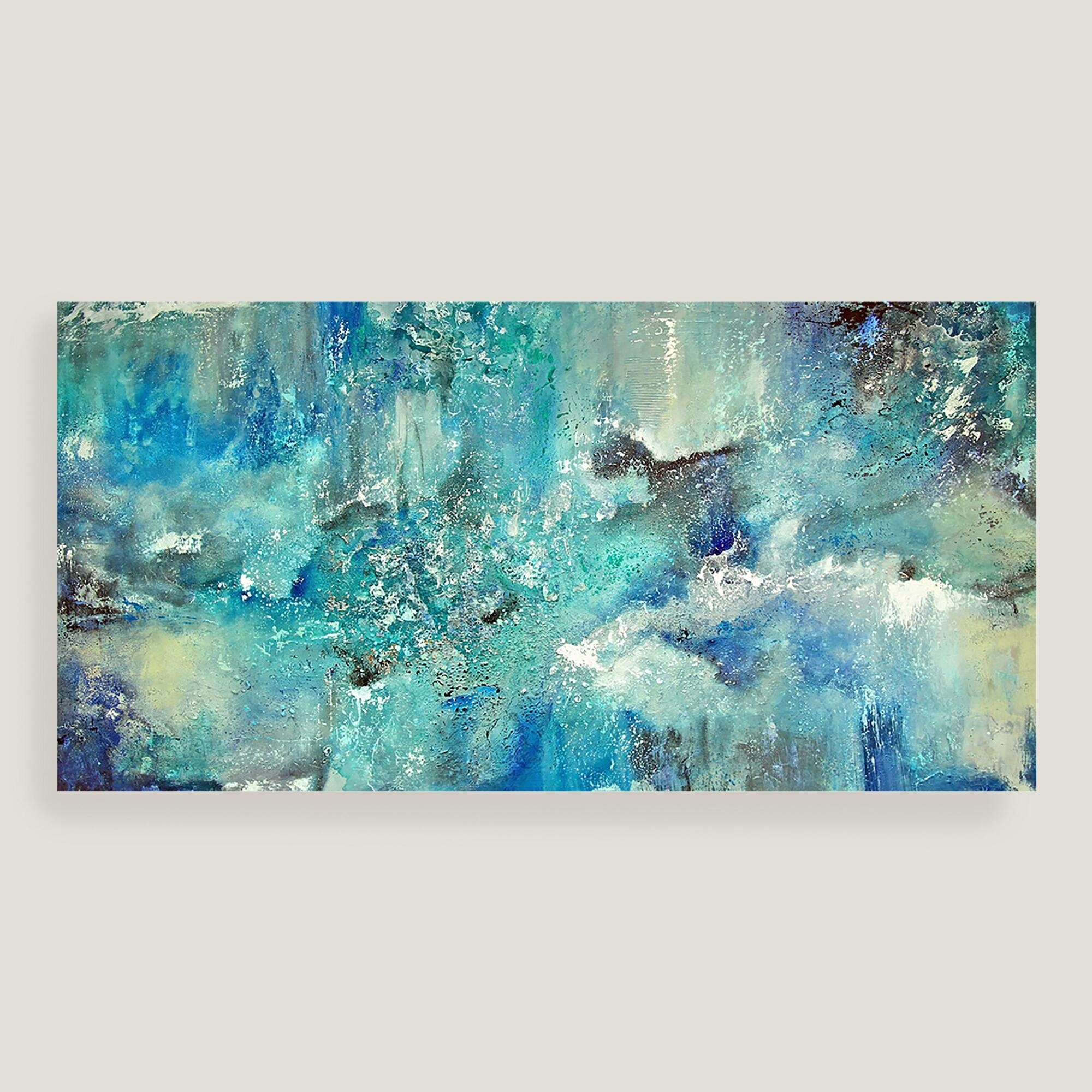 Wall Art: Top 10 Sample Images Blue Canvas Wall Art Blue And White In Recent Blue Canvas Wall Art (View 3 of 15)