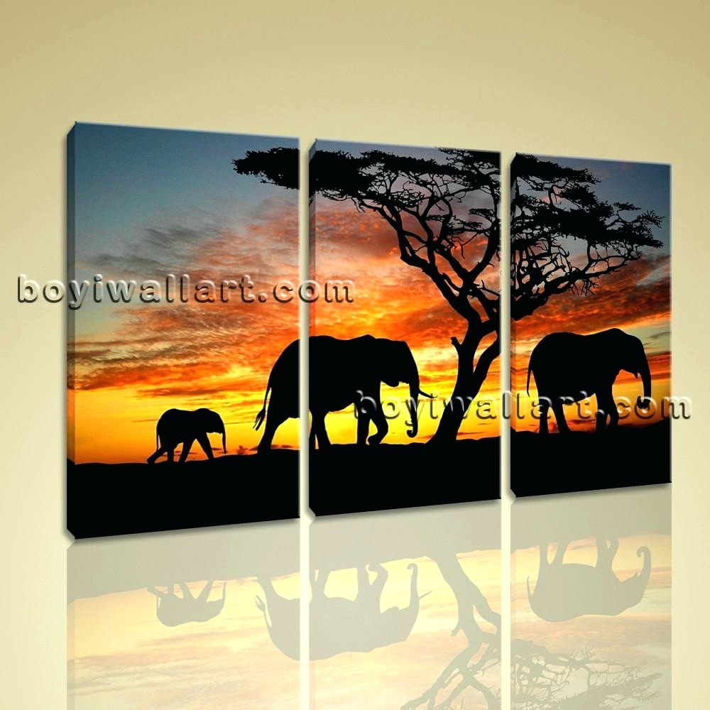 Wall Arts ~ African Canvas Wall Art African Safari Canvas Art With Newest Safari Canvas Wall Art (View 9 of 15)