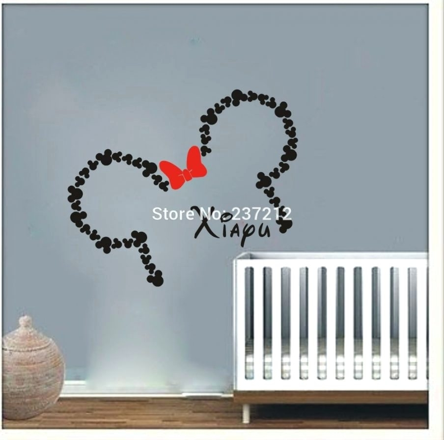 Wall Arts ~ Awesome Mickey Mouse Wall Art Ideas Baby Minnie Mouse In Most Popular Mickey Mouse Canvas Wall Art (View 12 of 15)